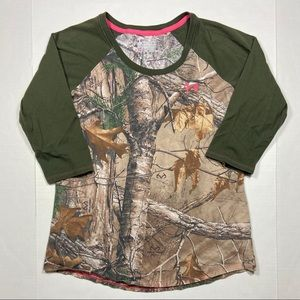 Under Armour Realtree 3/4 Sleeve Shirt Women's L